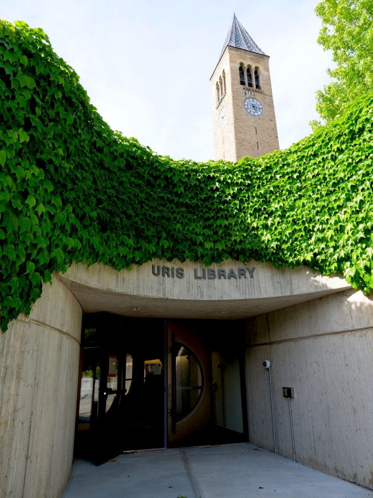 The south entrance to the Uris Addition (aka Cocktail Lounge).