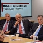 Three congressmen with a slide that says Inside Congress