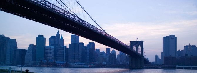 Brooklyn Bridge over river