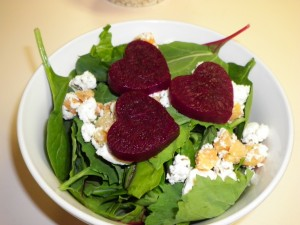 Heart Beets on a Salad