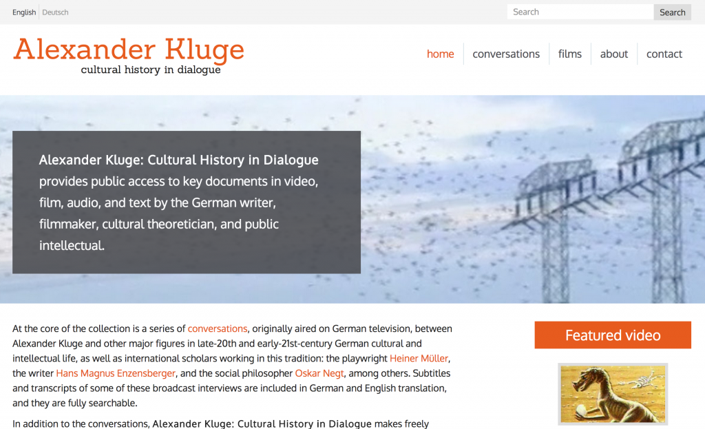 Kluge home page