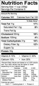 fish chowder label