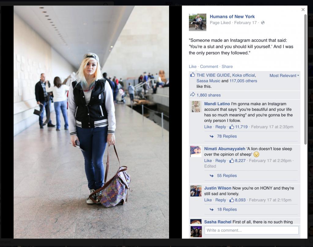 HONY cyberbullying