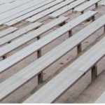 Crescent bleacher seating