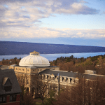 Scenery overlooking Sibley Dome and Cayuga Lake