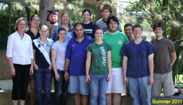 2011 Front row: Ann Hajek, Isis Caetano, Erin Morris, Stefan Long, Kenlyn Peters, Mike Garvey, Justin Tyvoll, Aaron Anderson; Back row: Mark Sarvary, Ryan Kepler
