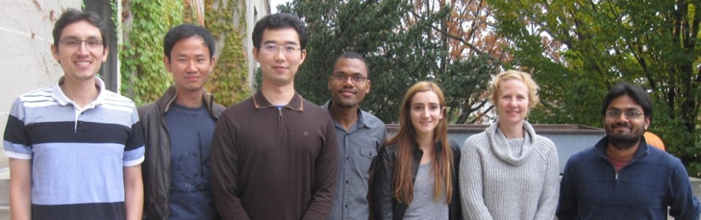 Left to Right; Jose Carrillo, Lingfeng Cheng, Jialin Liu, Luckny Zephyr, Rachel Saperstein, Dr. C. Lindsay Anderson, Amandeep Gupta