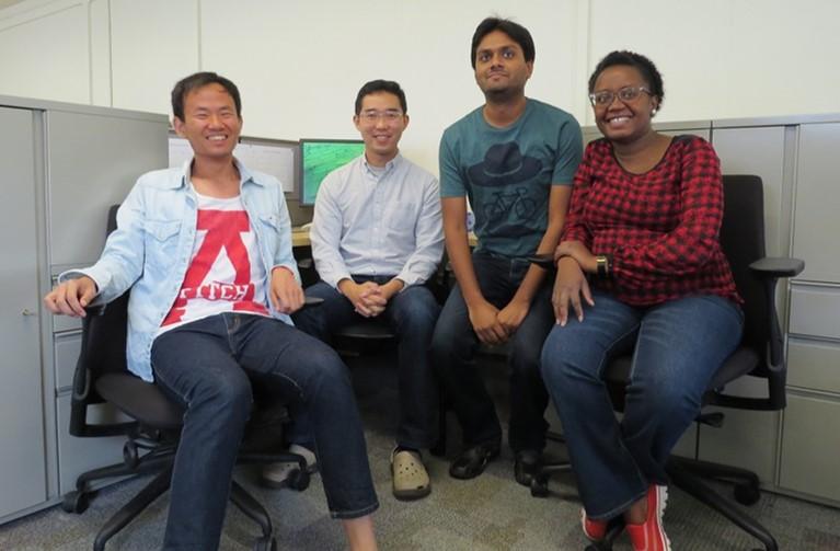 Left to Right; Lingfeng Cheng, Jialin Liu, Amandeep Gupta, Maureen Murage