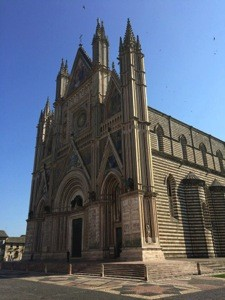 Duomo di Orvieto, one of the many magnificent churches we visited on our trip
