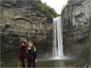 Aubrey Hiebert '18 and I enjoy a trip to Taughannock Falls State Park.