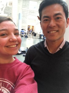 Advising Dean Ray Kim and I take a selfie in Klarman Hall.