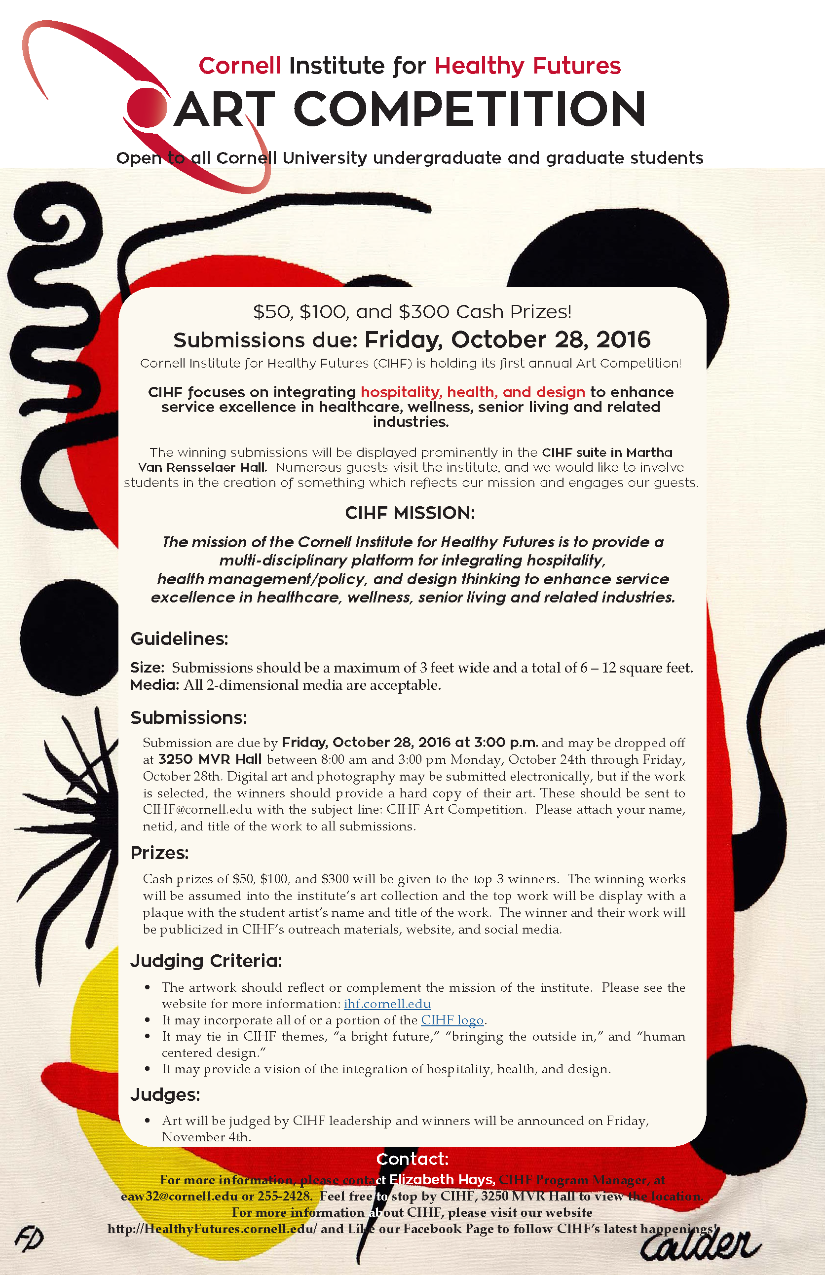 CIHF Art Competition Instructions