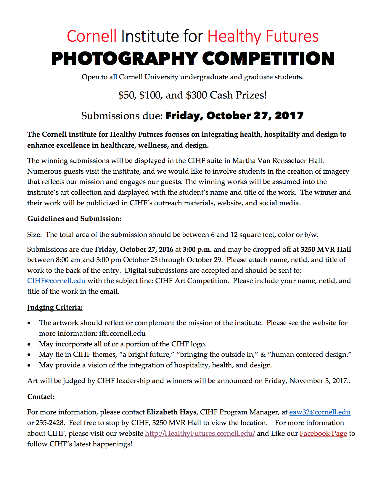 photo competition flyer