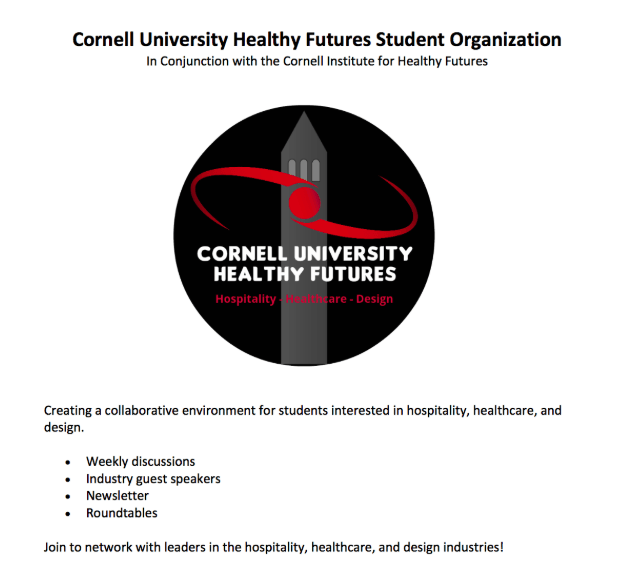 Cornell University Healthy Futures: Hospitality, Healthcare, Design