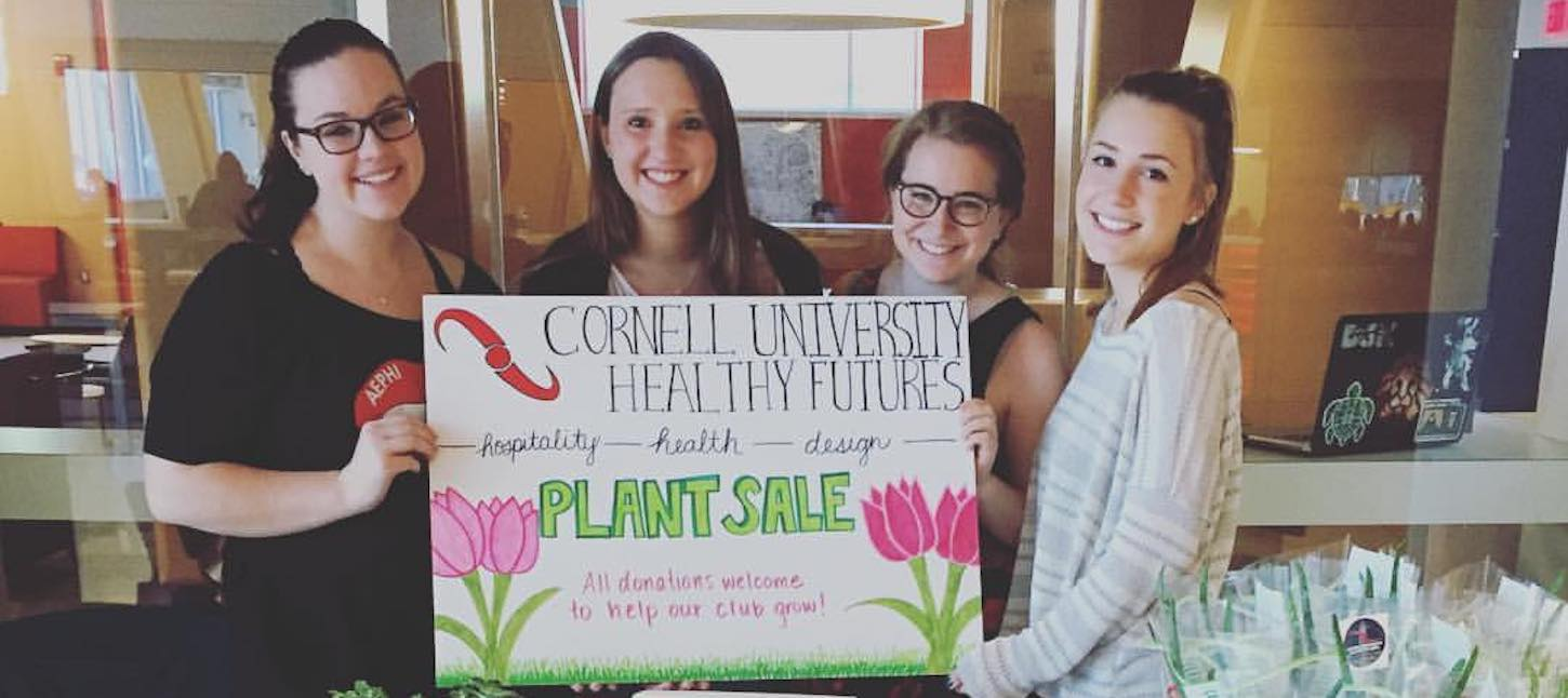 Photo of students at a plant sale