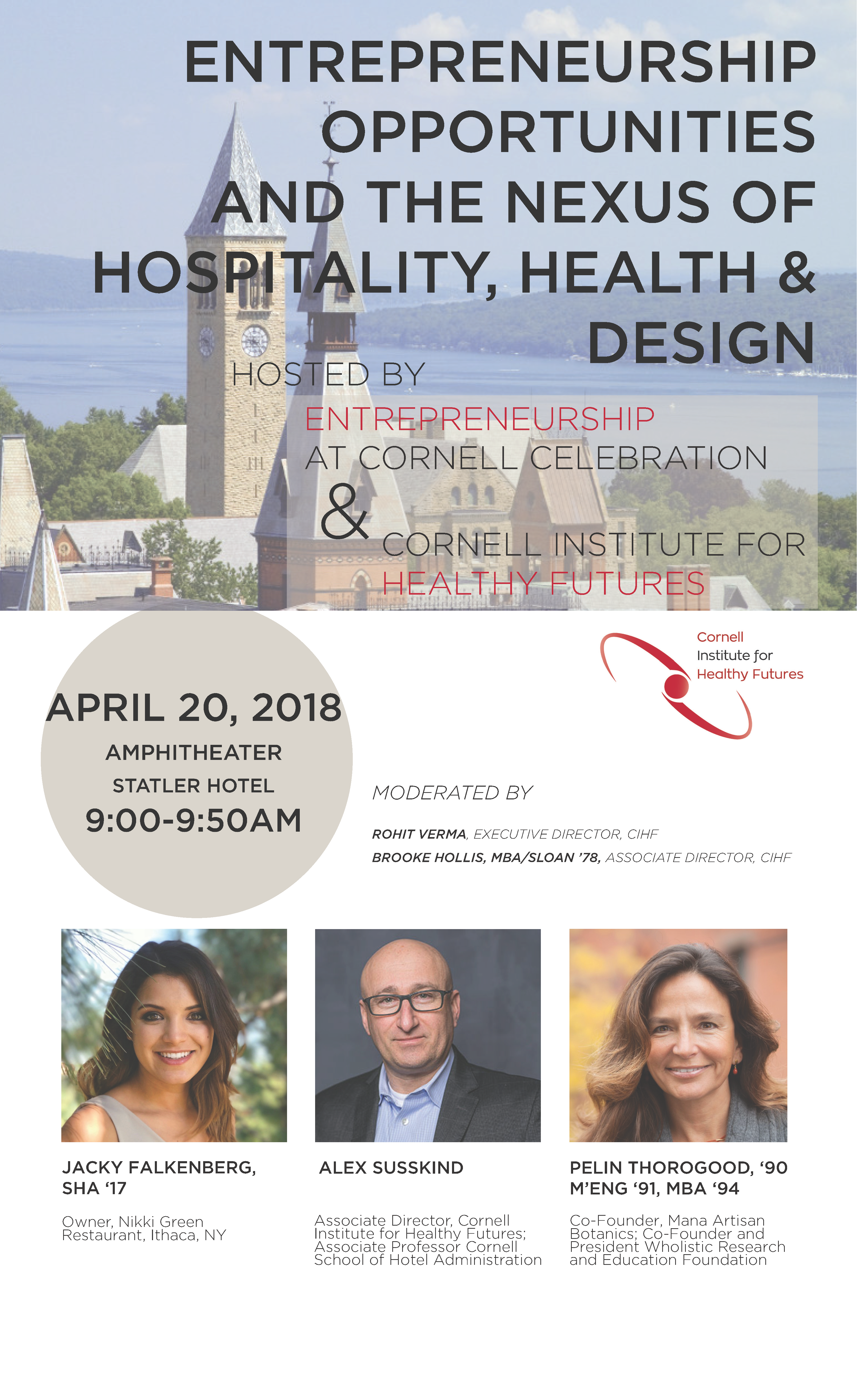 Flyer for CIHF Panel - Entrepreneurship Opportunities and the Nexus of Hospitality, Health and Design