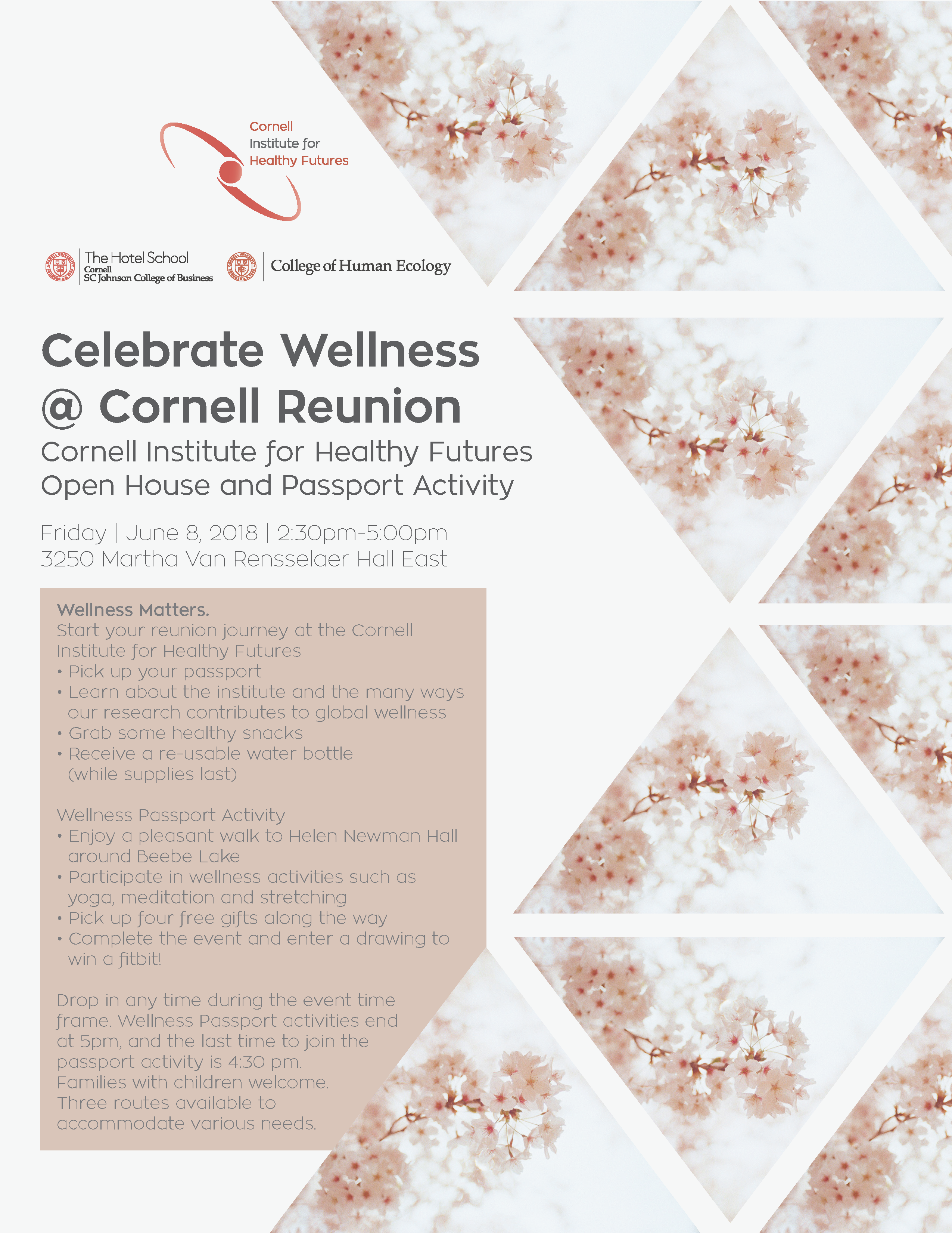 Flyer for Celebrate Wellness @ Cornell Reunion