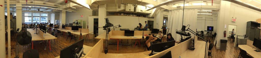 Our studio near Union Square, which we share with the undergrad architecture students