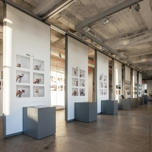 The gallery space was turned into an exhibition of the seven volumes of ASSOCIATION.
