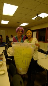 DNR graduate student Yue Li from China presents her research poster to Cornell professor Dr Nancy Wells.
