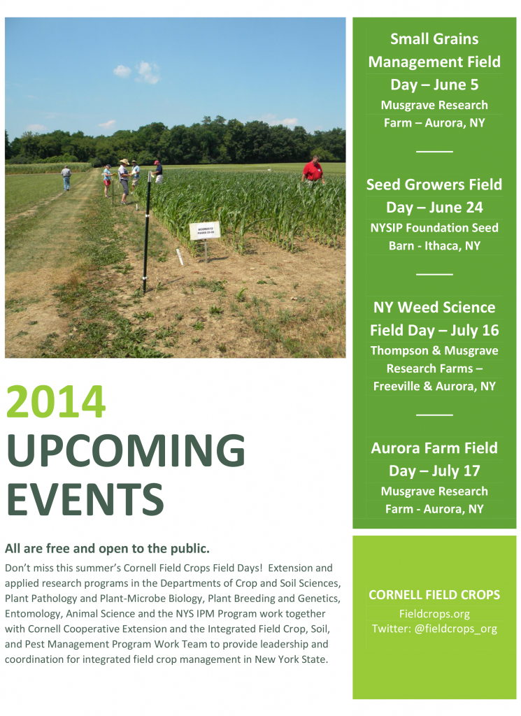 2014 Upcoming Events