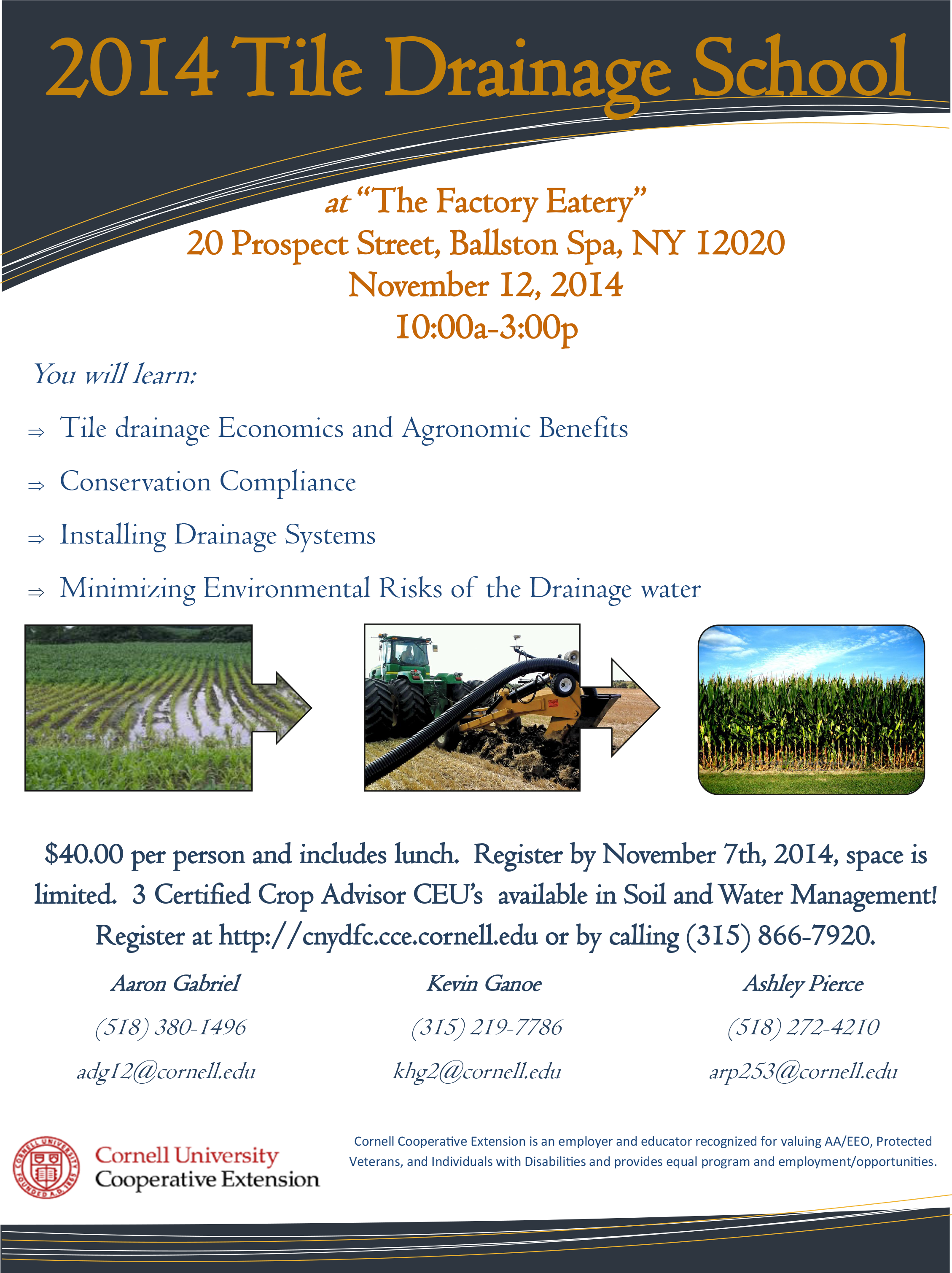Flyer tile drainage school