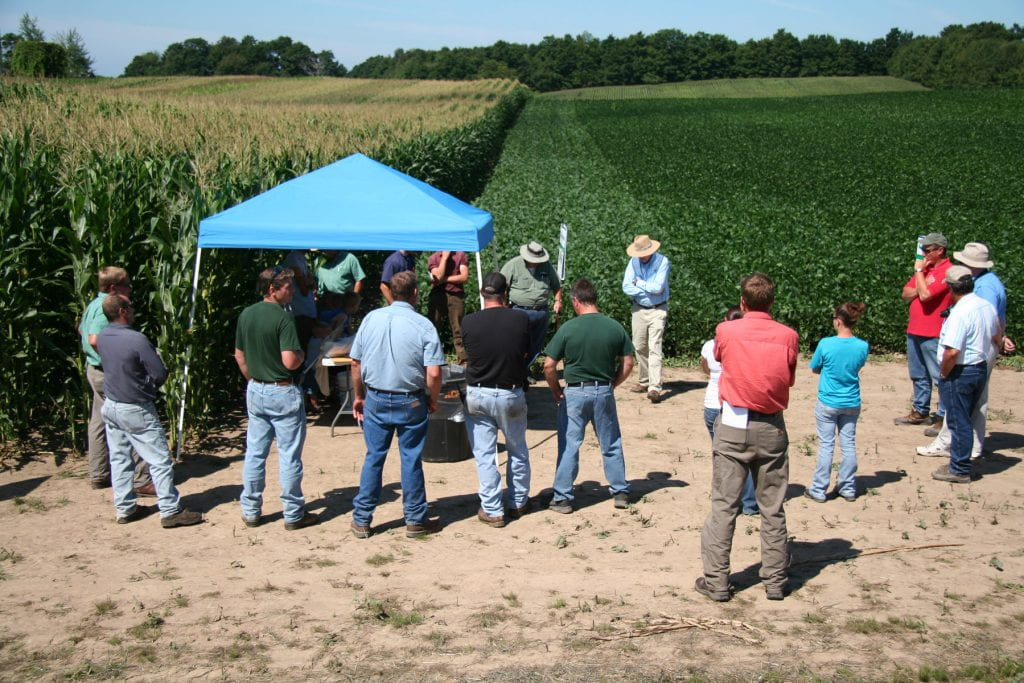 Growers hear from Cornell faculty and Extension educators at this NNY corn and soybean field day in Henderson, N.Y.