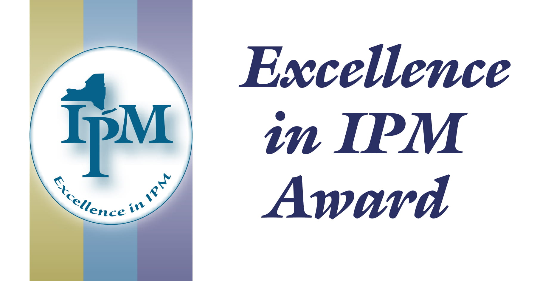 This graphic is a replica image of the Excellence in IPM Award plaque given awardees.