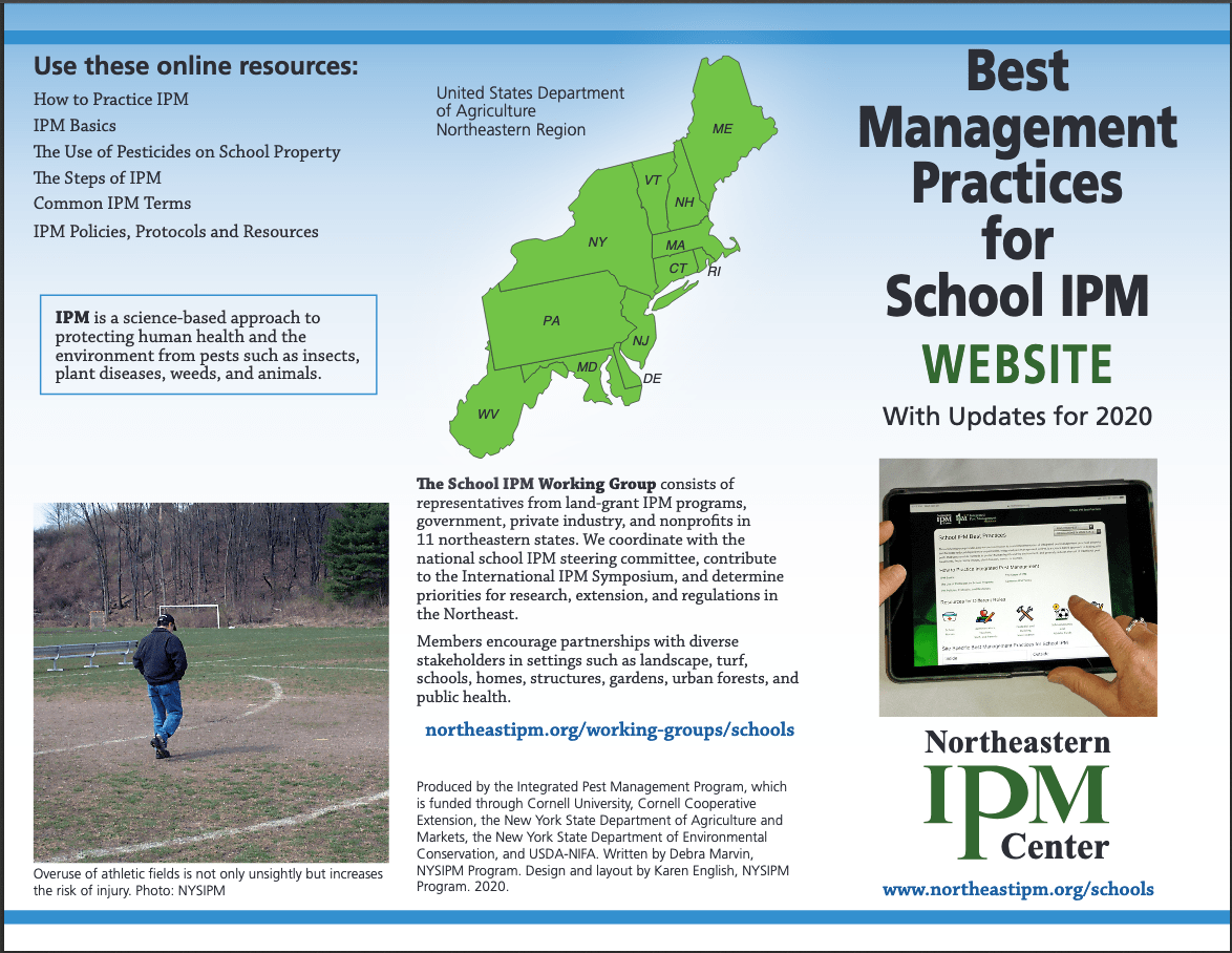 graphic shows front of new brochure announcing the changes in the school best management practices website