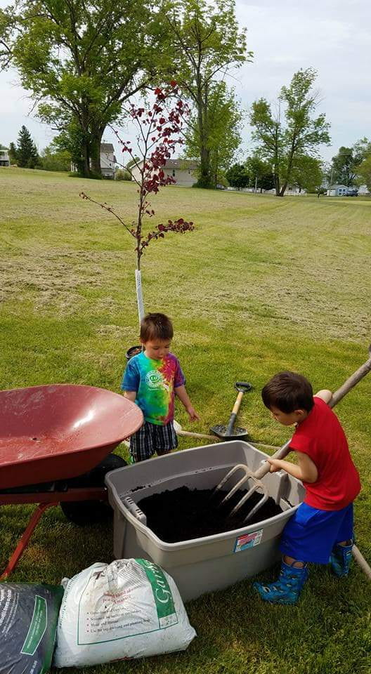 Photo of kids planting