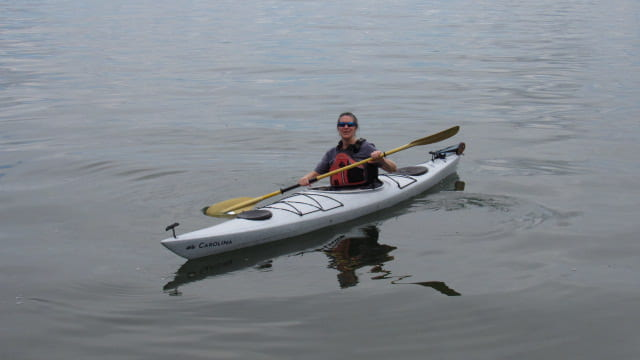 photo of Jen in kayak