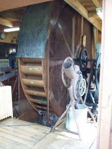 Sam Warren's homemade waterwheel