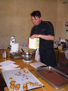 Pastry Chef working with olive products