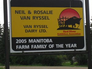 Van Ryssel Dairy Farm Sign