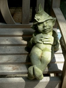 This very cute garden gnome exemplifies how I have been trying to spend my weekends after my sometimes crazy weeks.