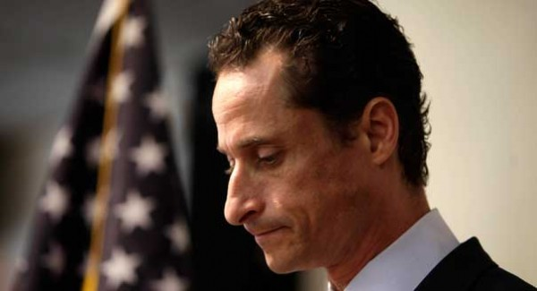 Weiner resigns after his twitter scandal and his prior press conference saying he would not resign.