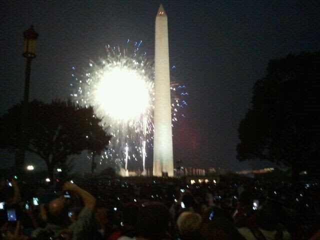 Picture from my phone just in front of Washington Monument Capitol Side