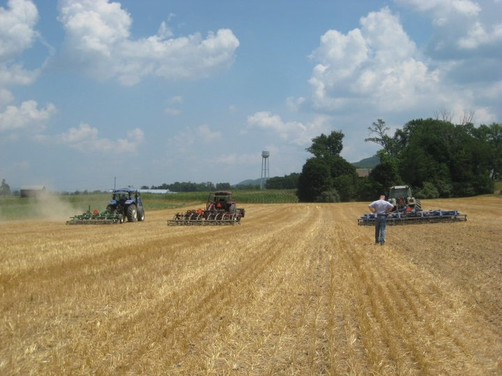 Vertical tillage demonstration.