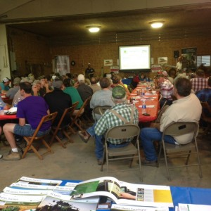Growers from all over West PA get together for dinner and a guest speaker on grain marketing advice.