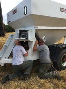 Fixing the wagon prior to harvest