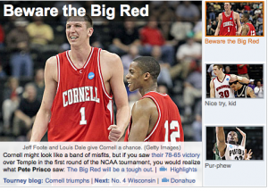 The homepage of cbssports.com yesterday