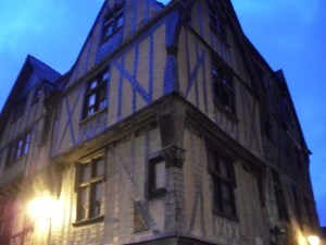 Typical type of building in Tours, France.