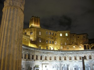 Hadrian's forum, first night in Rome.