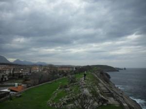 Walkway along the coast in LLanes, Asturias.
