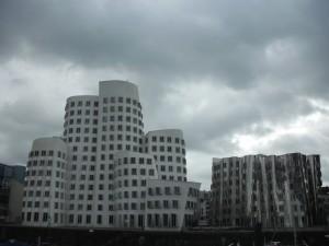 Frank Gehry buildings in Düsseldorf, Germany.