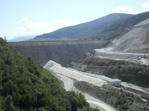 Presa de Yesa in Navarra. They are going to build a new, larger dam right in front of this old one to capture more water.