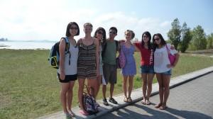from left to right: Brooke, Karolina, Alexandra, Kristian, Meg, Ashleigh, and Bonnie