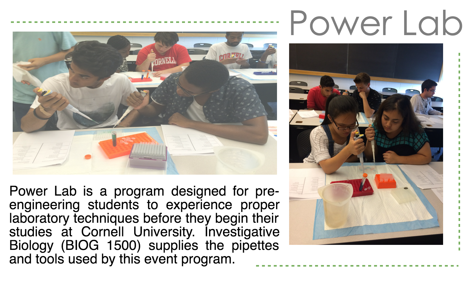 Power Lab for pre-engineering students