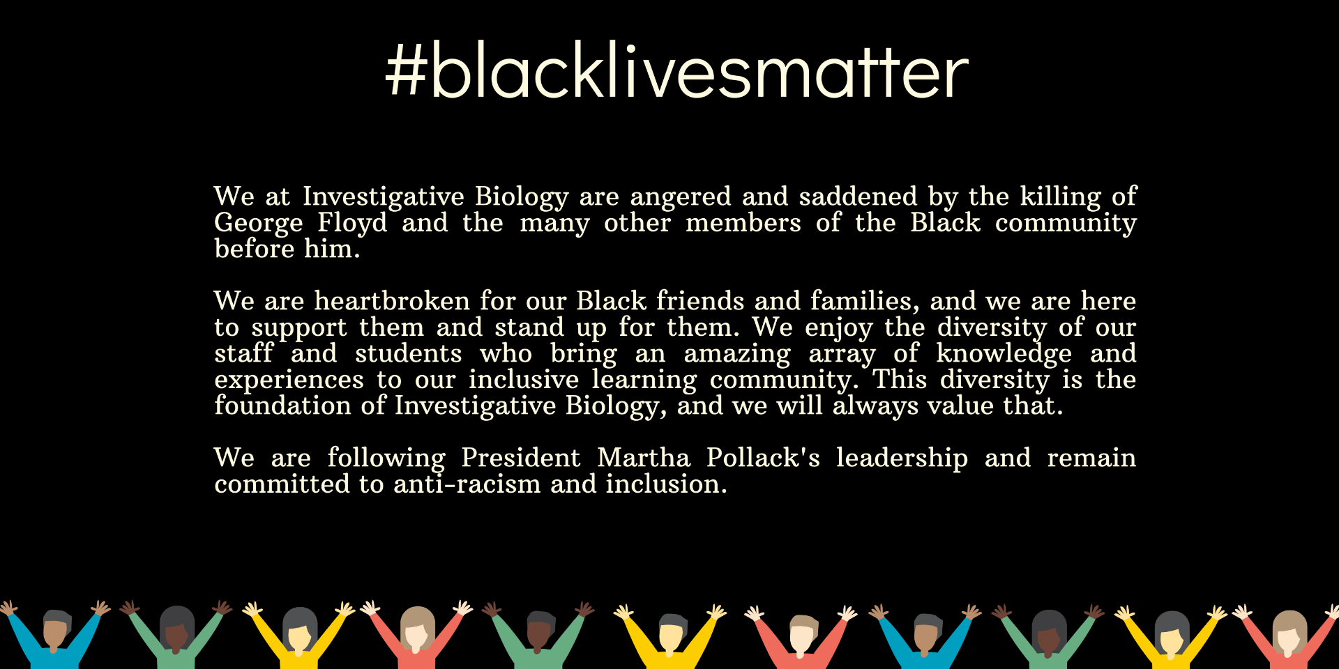Statement on course policy regarding racism and the black lives matter movement