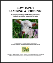 Low Input Lambing & Kidding cover image